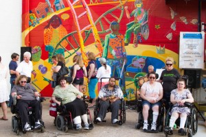 The completed Diversability mural in downtown Benson.