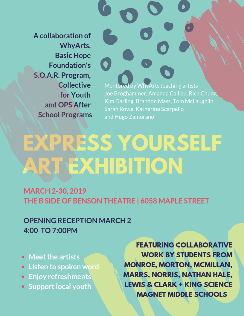 Opening Reception for Express Yourself Art Exhibition March